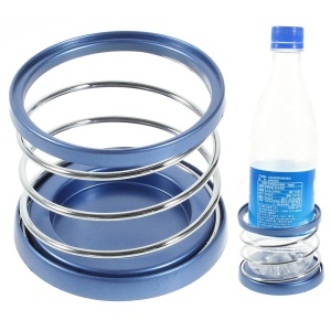 Blue Car Metal Steel Spring Can Drinks Holder, Diameter: 6.5cm