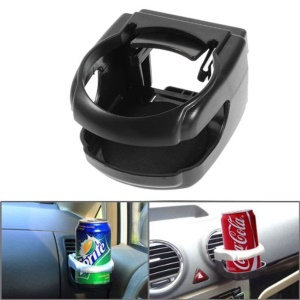 Car Air Conditioner Vent Mount Can Bottle Drink Holder - Black