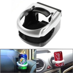 Car Air Conditioner Vent Mount Can Bottle Drink Holder - Silver