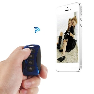 Blue TY-101 Mini Bluetooth Remote Shutter Self-Timer for iPhone Samsung Galaxy S5 S4 Note 3 Etc