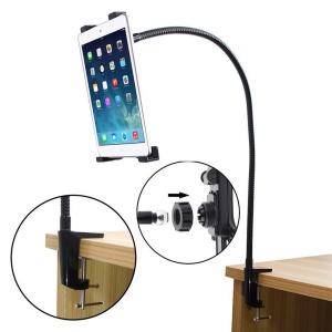 Black Full Rotating Gooseneck Desktop Stand Lazy Bed Tablet Holder Mount for iPad / Samsung Tabs / 7-12 inch Tablet PCs