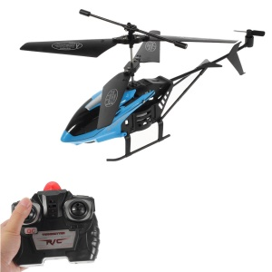 S31 Rechargeable 2-Channel Remote Airplane RC Helicopter Toy with Gyro - Blue