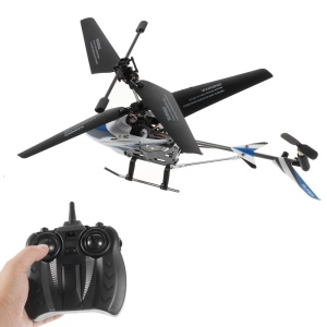 X-126 Mini 2.4GHz 3.5-Channel Remote Control Airplane RC Helicopter with Gyroscope - Blue