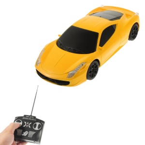 Jun Hong 2833 1:20 Radio Control Racing Car with LED - Yellow