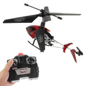 2-Channel R/C Infrared Remote Control Helicopter with Light Toy S04-1 - Red