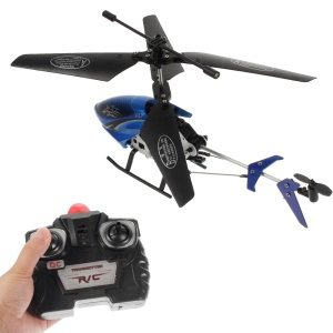 2-Channel R/C Infrared Remote Control Helicopter with Light Toy S04-1 - Blue