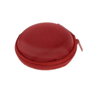 Portable Earphone Headphone Earbud Carrying Storage Bag Pouch - Red