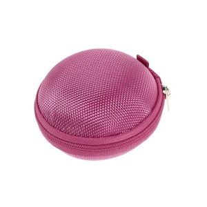 Portable Earphone Headphone Earbud Carrying Storage Bag Pouch - Rose