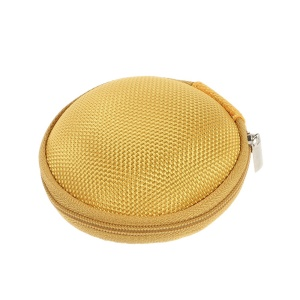 Portable Earphone Headphone Earbud Carrying Storage Bag Pouch - Yellow