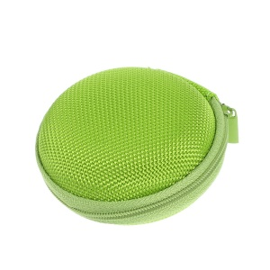 Portable Earphone Headphone Earbud Carrying Storage Bag Pouch - Green