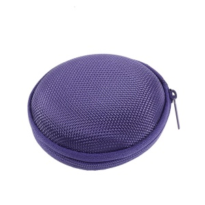 Portable Earphone Headphone Earbud Carrying Storage Pouch Bag - Purple