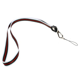 Multi-color Lanyard Strap String for Cell Phone Keychains MP3 Etc, Length: 50cm - White / Green