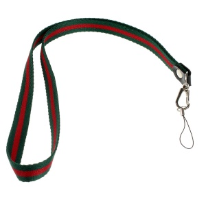 Two-tone Lanyard String Cord for Cell Phone Keychains MP3 Etc, Length: 50cm - Green / Red