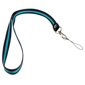 Two-tone Lanyard String Cord for Cell Phone Keychains MP3 Etc, Length: 50cm - Dark Blue / Light Blue