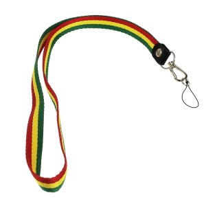 Lanyard String Cord for Cell Phone Keychains MP3 Etc, Length: 50cm - Green / Yellow / Red