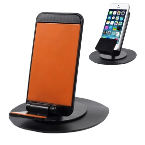 Universal Rotary Car Mount Holder with Adhesive Rubber Pad - Orange