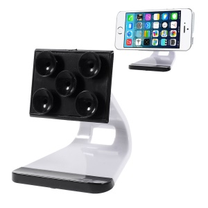 Suction Cups Adsorption Desk Display Holder for iPhone Samsung HTC Mobile Phones - White