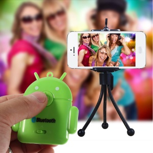 Green Cute Android Robot Bluetooth Remote Self-Timer Shutter for iPhone iPad Samsung S5 S4 Note 3 etc