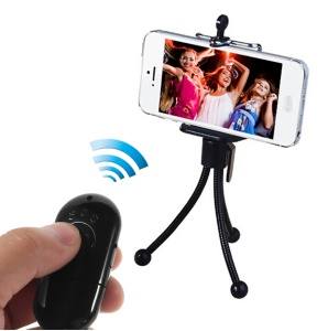 Mr.D D365 Mini Bluetooth Remote Shutter Self-Timer Support NFC for iPhone Samsung HTC Etc - Black