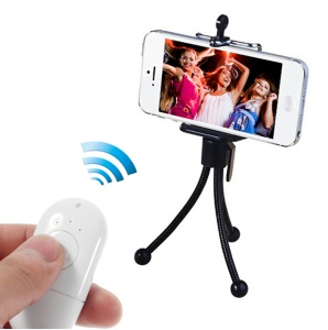 Mr.D D365 Mini Bluetooth Remote Shutter Self-Timer Support NFC for iPhone Samsung HTC Etc - White