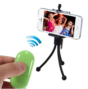 Mr.D D365 Mini Bluetooth Remote Shutter Self-Timer Support NFC for iPhone Samsung HTC Etc - Green