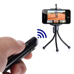 AB Shutter 4 Mini Stick Bluetooth Remote Shutter Self-Timer for iPhone Samsung Etc - Black