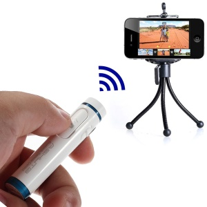 AB Shutter 4 Mini Stick Bluetooth Remote Shutter Self-Timer for iPhone Samsung Etc - White
