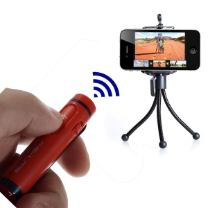 AB Shutter 4 Mini Stick Bluetooth Remote Shutter Self-Timer for iPhone Samsung Etc - Red