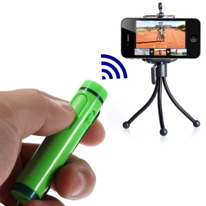 AB Shutter 4 Mini Stick Bluetooth Remote Shutter Self-Timer for iPhone Samsung Etc - Green