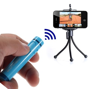 AB Shutter 4 Mini Stick Bluetooth Remote Shutter Self-Timer for iPhone Samsung Etc - Blue