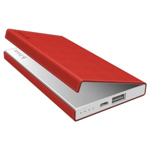 Red IHAVE ig0250 Power Bank Protective Leather Cover (Compatible with MCH-1481)