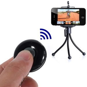 Black iPega Round Shape Mini Bluetooth Remote Control Self-Timer for iOS iPhone iPad Android Smartphone Samsung