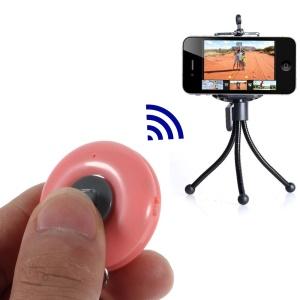 Pink iPega Round Shape Mini Bluetooth Remote Control Self-Timer for iOS iPhone iPad Android Smartphone Samsung