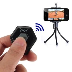Black iPega Hexagon Shape Mini Bluetooth Remote Control Self-Timer for iOS iPhone iPad Android Smartphone Samsung