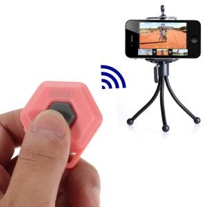 Pink iPega Hexagon Shape Mini Bluetooth Remote Control Self-Timer for iOS iPhone iPad Android Smartphone Samsung