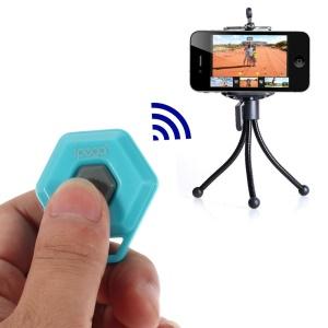 Blue iPega Hexagon Shape Mini Bluetooth Remote Control Self-Timer for iOS iPhone iPad Android Smartphone Samsung