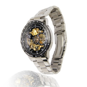 Automatic Mens Mechanical Steel Band Watch with Tachymeter 98226G