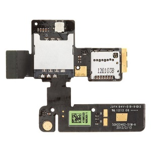 SIM Card Tray and Memory MicroSD Card Holder Slot Flex Cable for HTC One V T320e