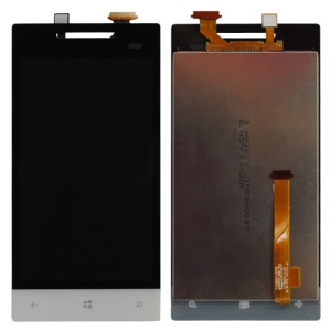 OEM HTC Windows Phone 8S LCD Assembly with Touch Screen Digitizer - Black / White