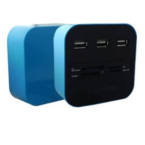 3-Port USB 2.0 HUB with Card Reader