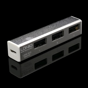 LDNIO Mini USB2.0 Hi-Speed 3 Port USB Hub w/ Micro USB Cable H16