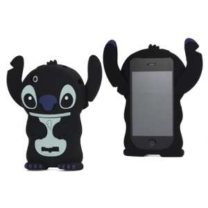 DER Stogdill OEM Adorable 3D Stitch Soft Silicone Cover for iPhone 3G 3GS - Black