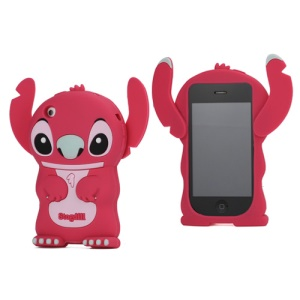 DER Stogdill OEM Adorable 3D Stitch Soft Silicone Cover for iPhone 3G 3GS - Red