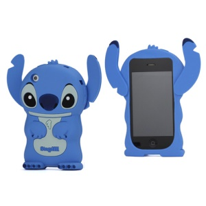 DER Stogdill OEM Adorable 3D Stitch Soft Silicone Cover for iPhone 3G 3GS - Blue