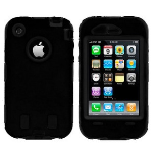Defender Silicone + PC Hybrid Case for iPhone 3G 3GS - Black