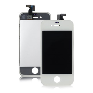LG Brand LCD Screen and Touch Screen Digitizer for iPhone 4 - White