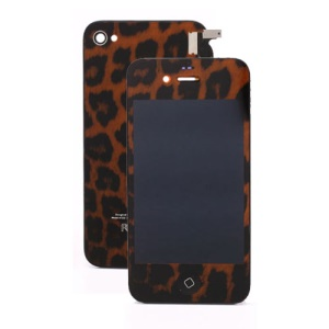 Brown Leopard iPhone 4 Conversion Kit (LCD Assembly + Back Cover + Home Button)