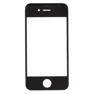 Black Front Glass Lens Replacement for iPhone 4 OEM