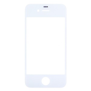 White Front Glass Lens Replacement for iPhone 4 OEM