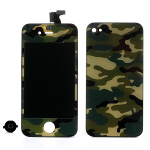 Green Camouflage Conversion Kit for iPhone 4 (LCD Assembly + Battery Cover + Home Button)